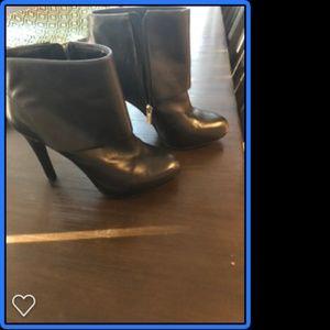 Jessica Simpson Black Leather Booties 8